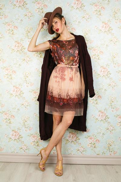 Градиентное платье