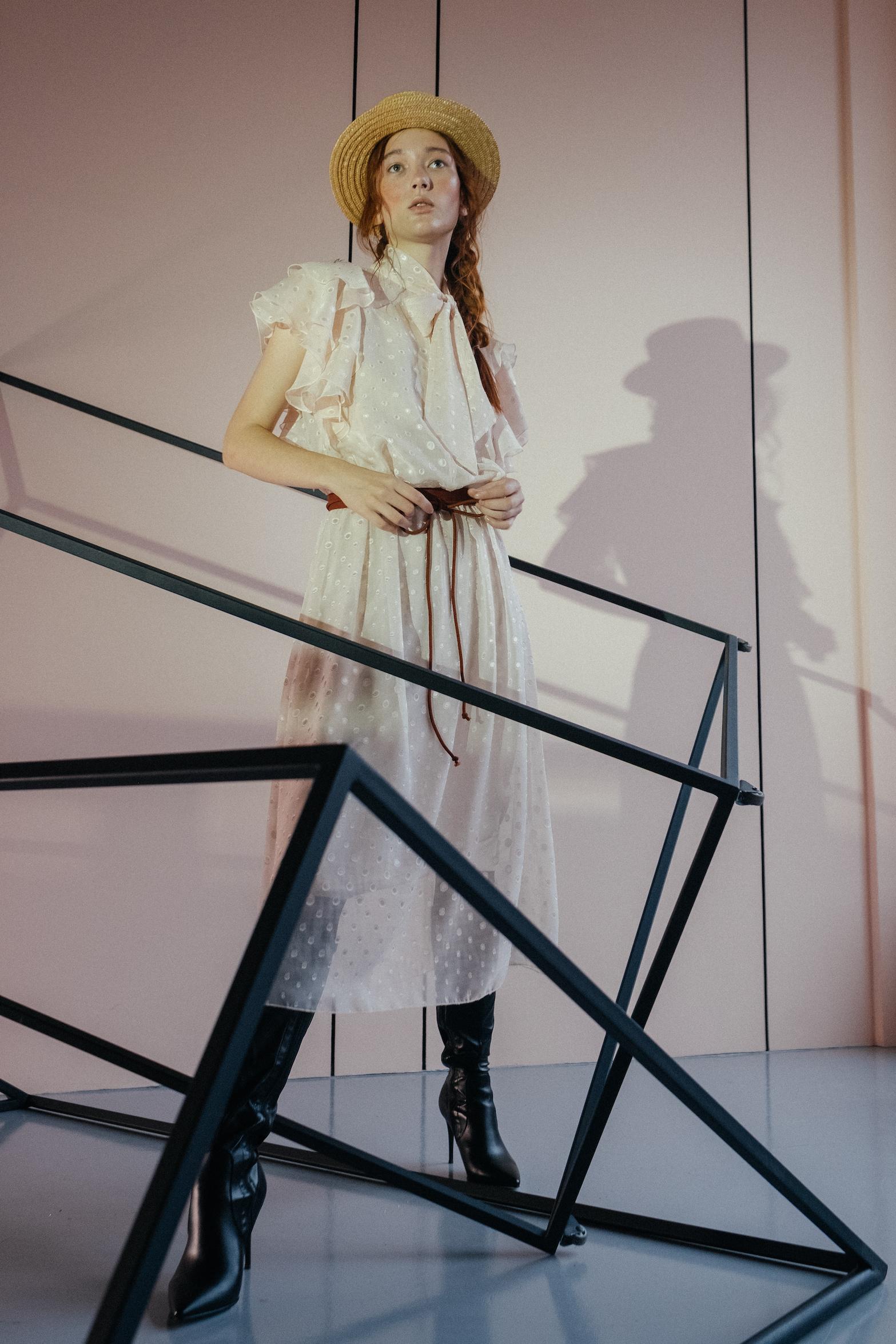 Платье  с рукавом-кокилье