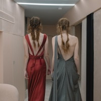 Гранатовое платье