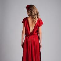 Вечернее платье из натурального шёлка